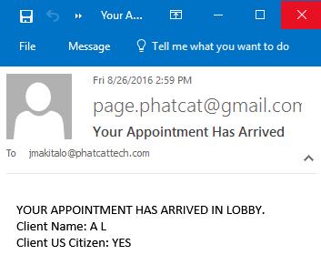 Client Arrival Alerts